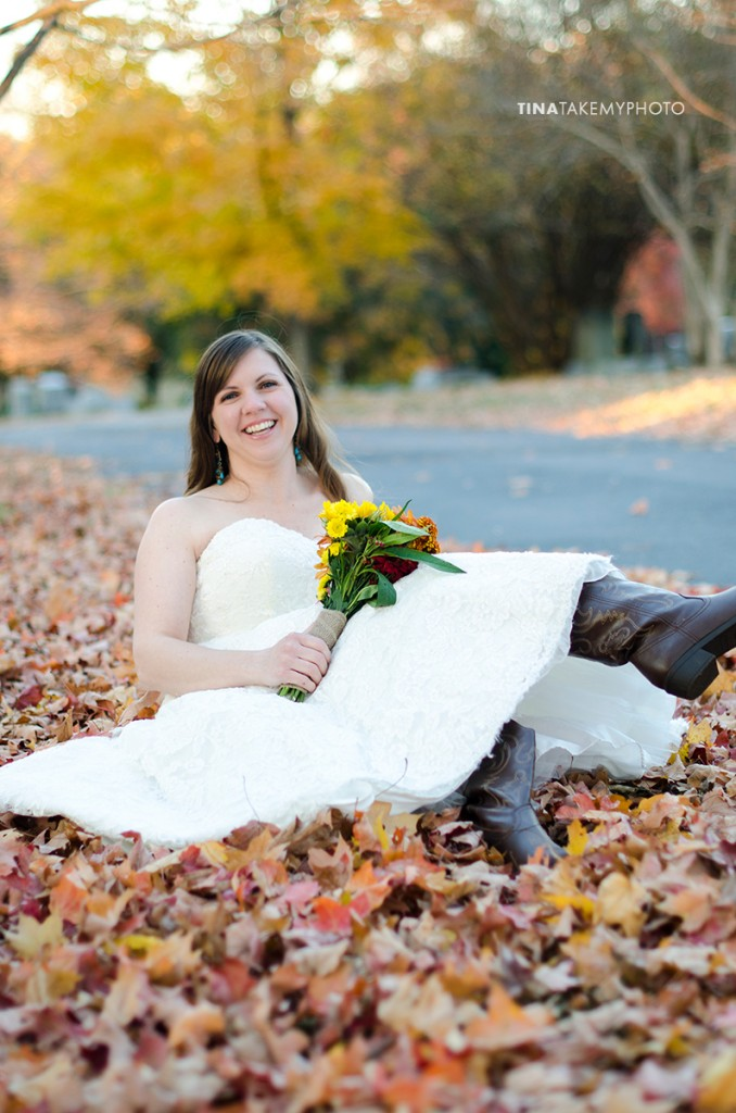 portrait photographer, bride in cowboy boots