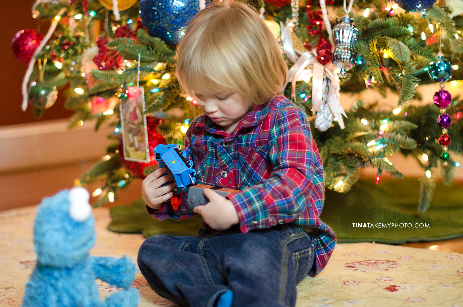 Christmas-Tree-Bokeh-Toddler-Train-Holiday-Portrait