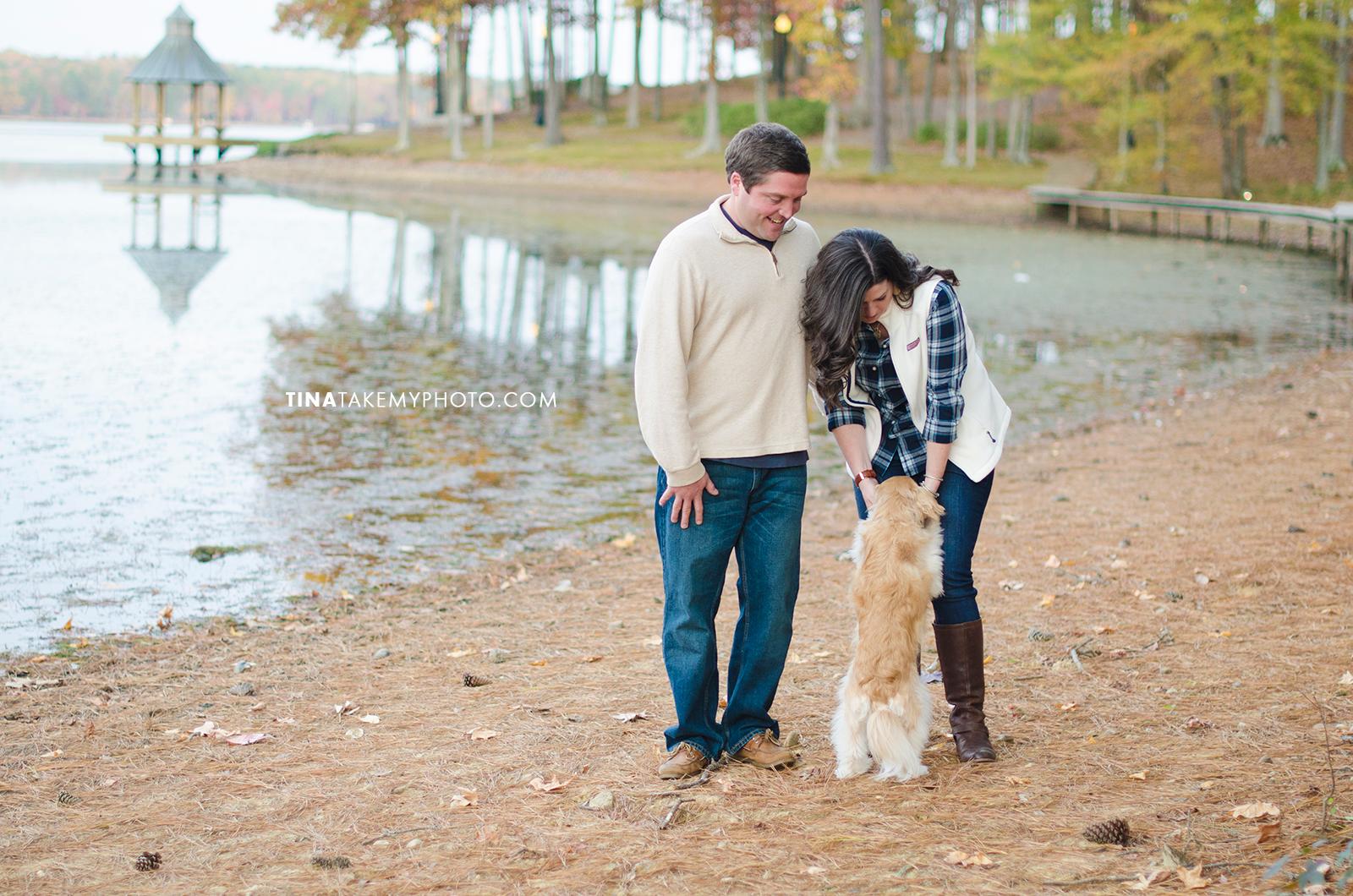Midlothian-Swift-Creek-Woodlake-Engagement-Photographer-Fall-Woods-Dog (18)
