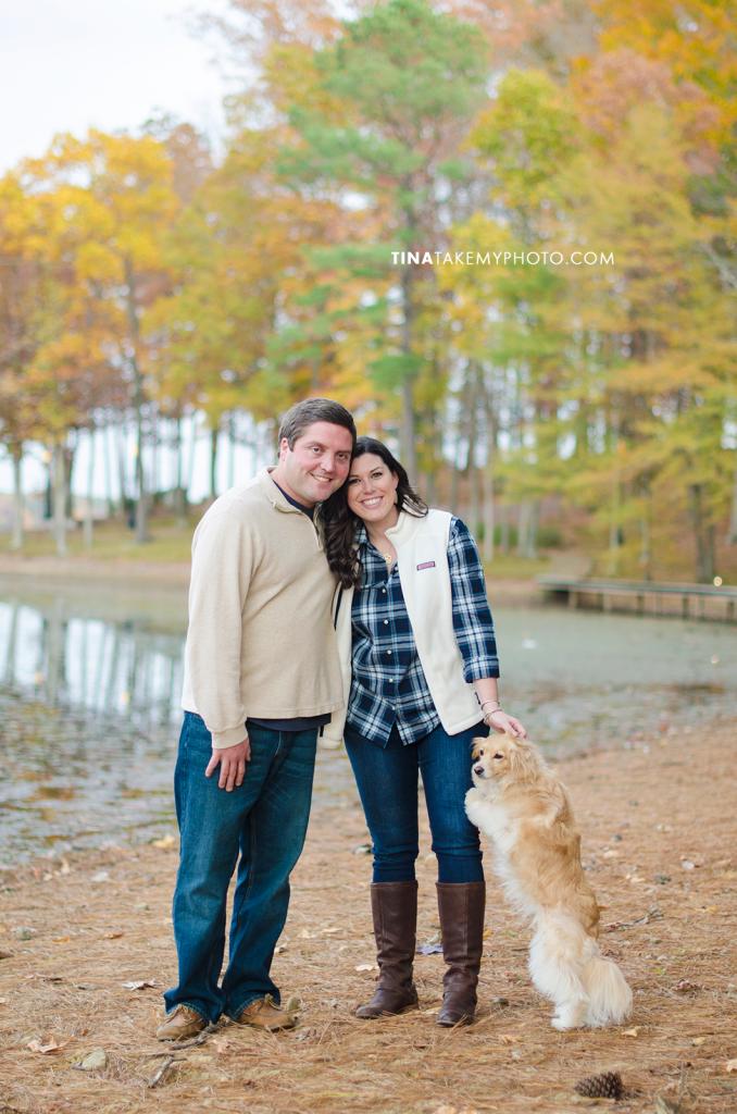 Midlothian-Swift-Creek-Woodlake-Engagement-Photographer-Fall-Woods-Dog (19)