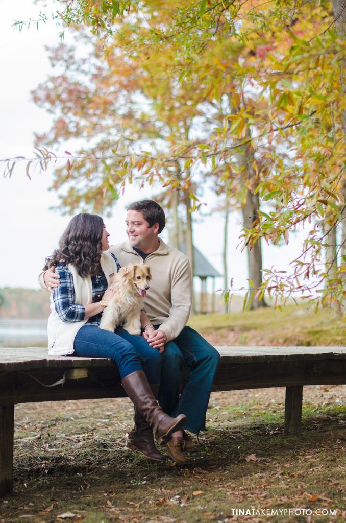 Midlothian-Swift-Creek-Woodlake-Engagement-Photographer-Fall-Woods-Dog-(23)