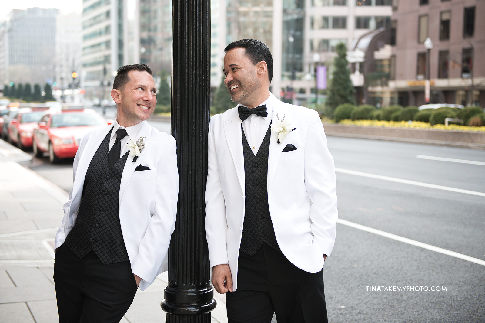 06-Washington-DC-Virginia-Gay-Same-Sex-Wedding-Men-12-13-14-Mayflower-City-Sidewalk-Photographer-Tuxedos