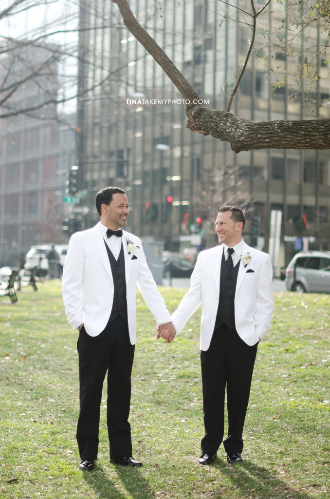 14-Washington-DC-Virginia-Gay-Same-Sex-Wedding-Men-12-13-14-Pose-City-Holding-Hands-Photographer