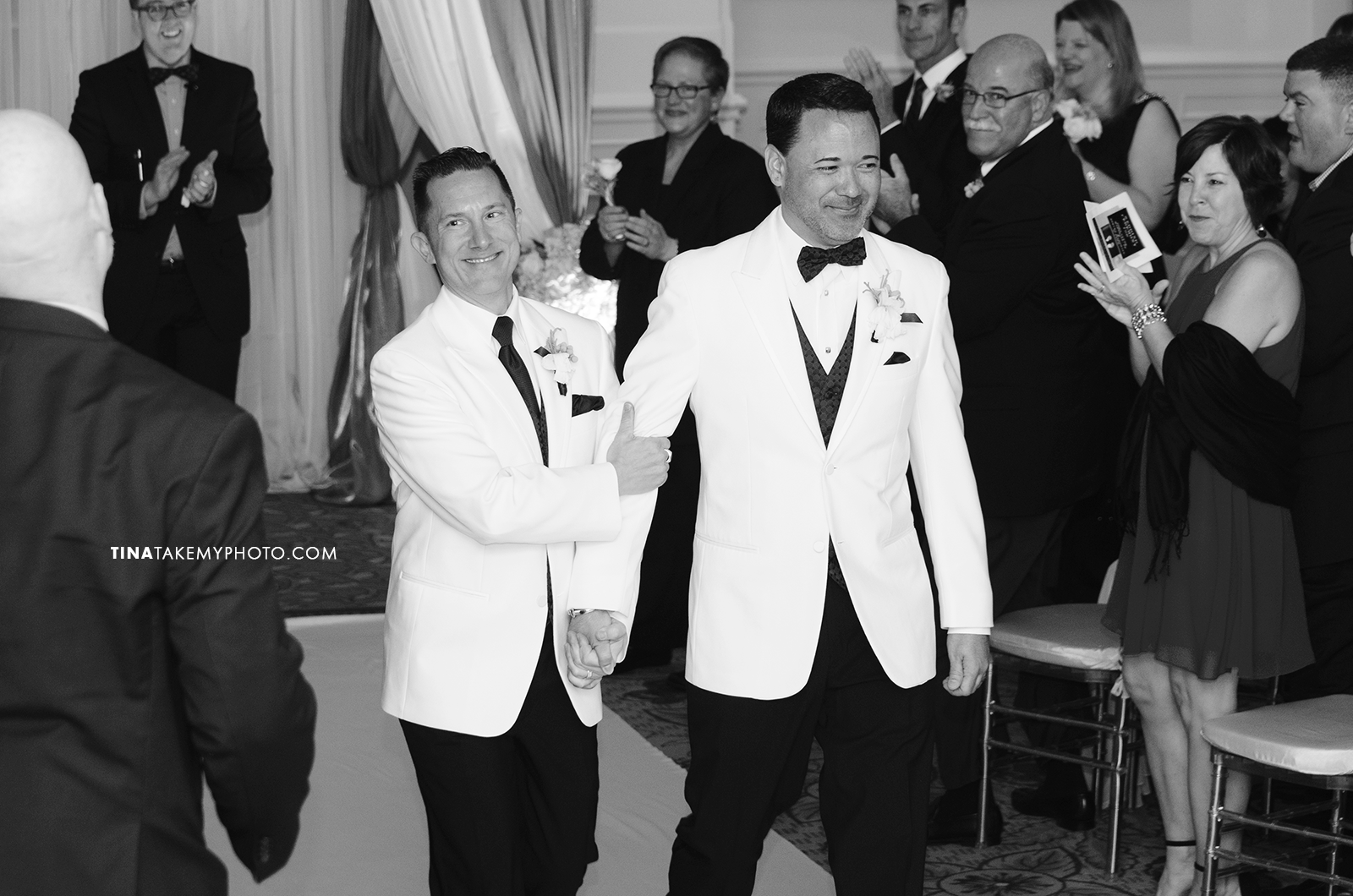 26-Washington-DC-Virginia-Gay-Same-Sex-Wedding-Men-12-13-14-Just-Married-Photographer-Aisle-Happy-Grooms