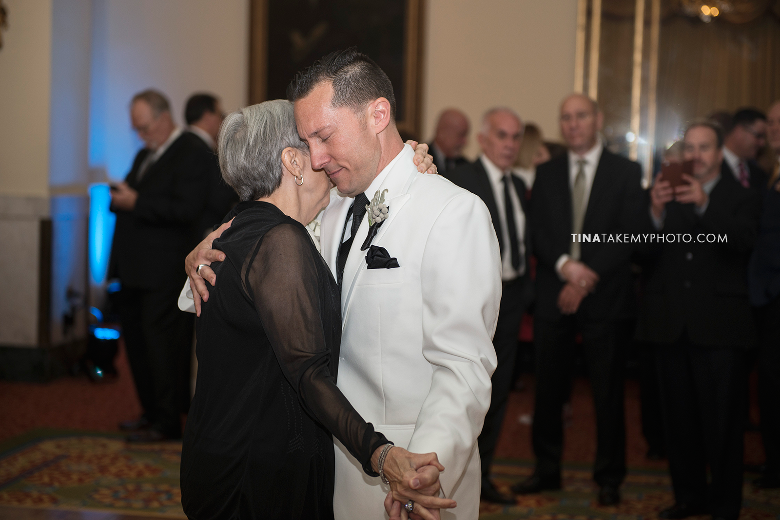 30-Washington-DC-Virginia-Gay-Same-Sex-Wedding-Men-12-13-14-Mother-Son-Dance-White-Tux-Photographer-Mayflower-Hotel-Ballroom