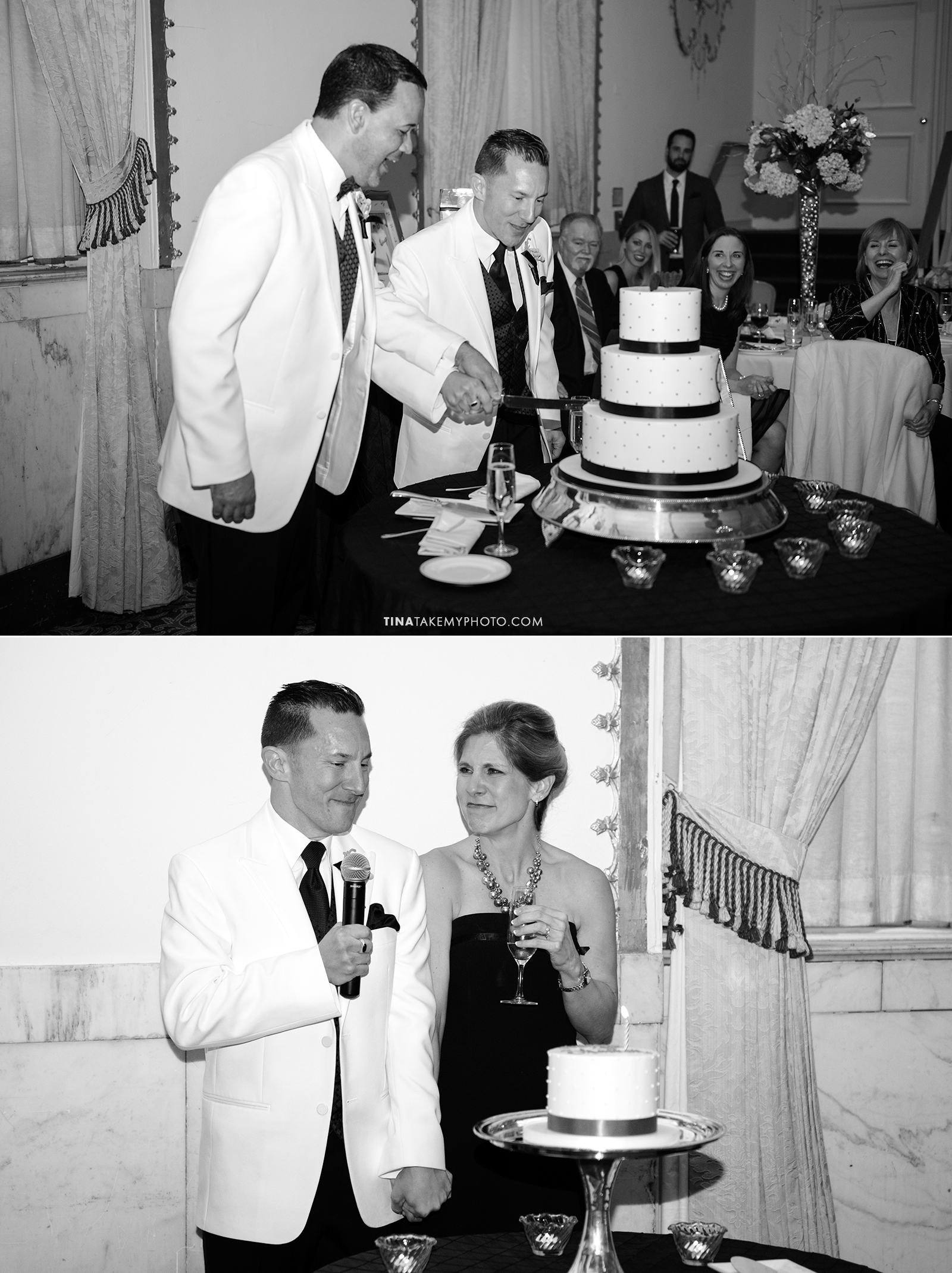 36-Washington-DC-Virginia-Gay-Same-Sex-Wedding-Men-12-13-14-Cake-Cutting-Mayflower-Hotel-Sister-Birthday-Surprise