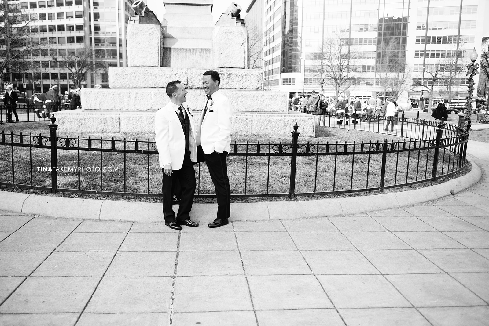43-Washington-DC-Virginia-Gay-Same-Sex-Wedding-Men-12-13-14-Mayflower-City-Statue-Portrait-Photographer