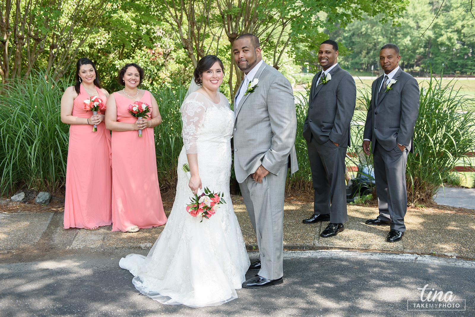 wedding-photographer-bridal-party-portrait-summer-brandermill-country-club-virginia-pink-grey