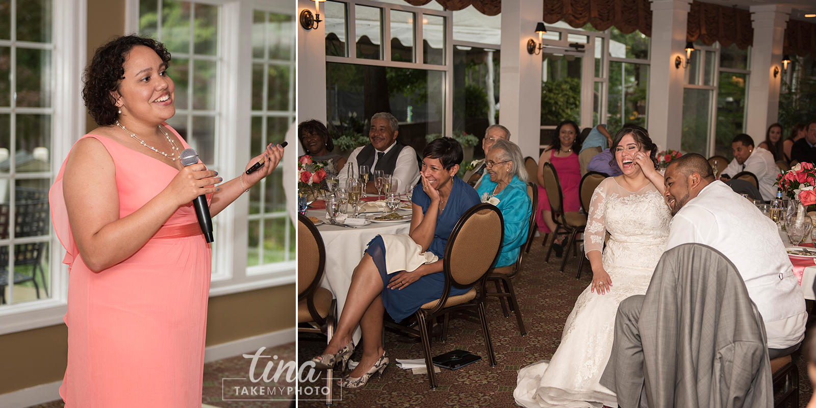 wedding-photographer-reception-maid-of-honor-speech-laugh-summer-brandermill-country-club-virginia