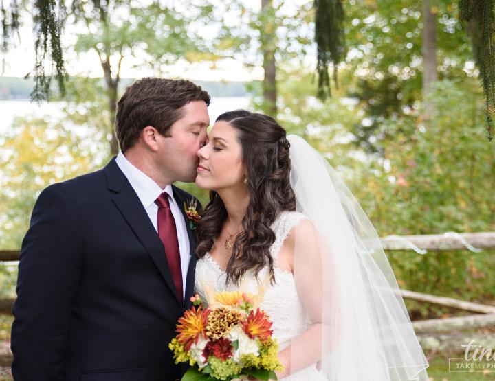 Maroon and Navy Fall Southern Lakefront Wedding [Midlothian, VA Photographer]