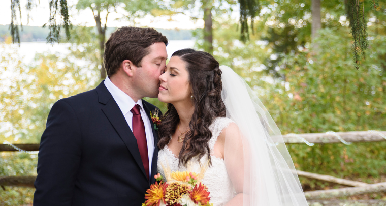 Maroon and Navy Fall Southern Lakefront Wedding [Midlothian, VA Photographer]