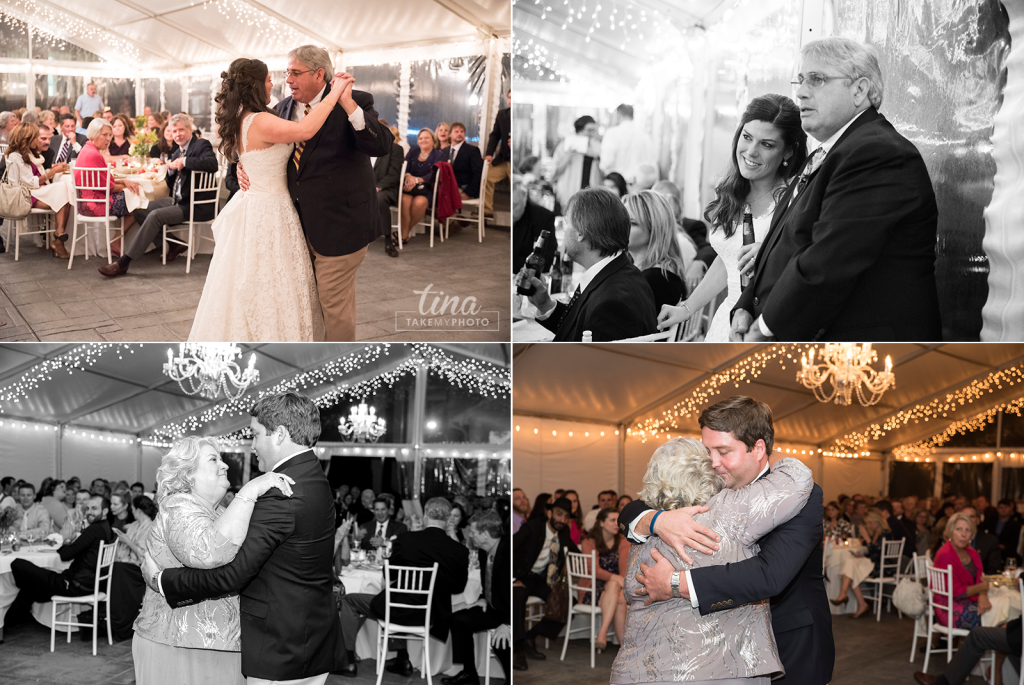 first-dance-father-daughter-mother-son-Richmond-virginia-wedding-photographer-tina-take-my-photo-fall-celebrations-reservoir-midlothian