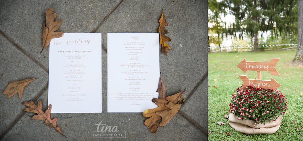 invite-signs-Richmond-virginia-wedding-photographer-tina-take-my-photo-fall-celebrations-reservoir-details-invitation-leaves-wooden-signs
