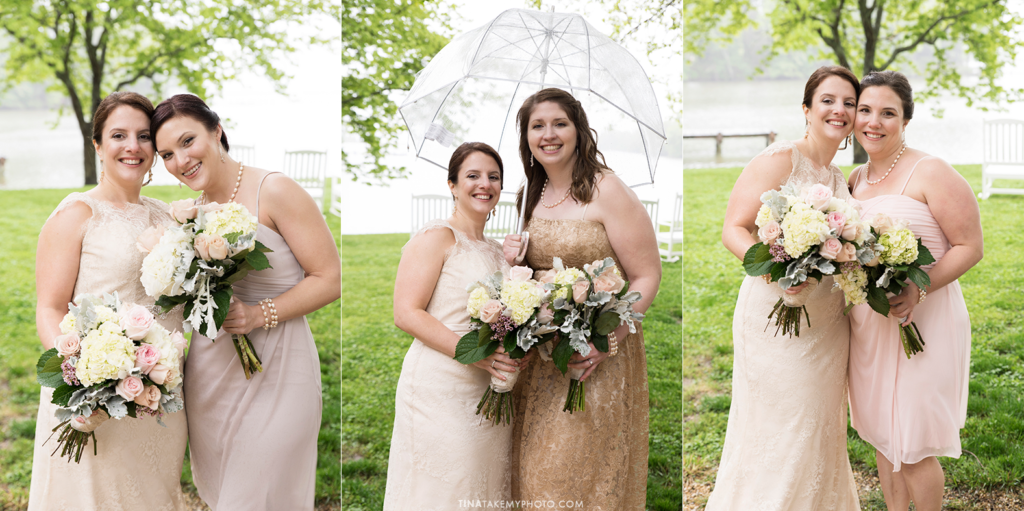 ridge-maryland-md-rainy-spring-blush-pinks-wedding-photographer-winery-slack-woodlawn-lake-outdoor-spring-romantic-bridal-party-bridesmaids-spring-bouquets-portraits