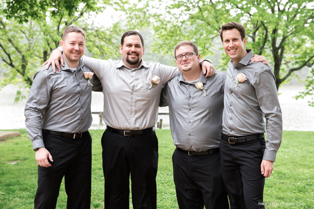 ridge-maryland-md-rainy-wedding-photographer-winery-slack-woodlawn-lake-outdoor-spring-groom-groomsmen-bridal-party-men-0776