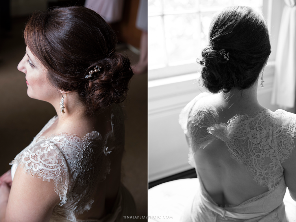 ridge-maryland-md-wedding-photographer-winery-slack-woodlawn-spring-cozy-cottage-manor-house-romantic-bride-elegant-updo-side-bun-hair-window-portrait-bride-lace-dress