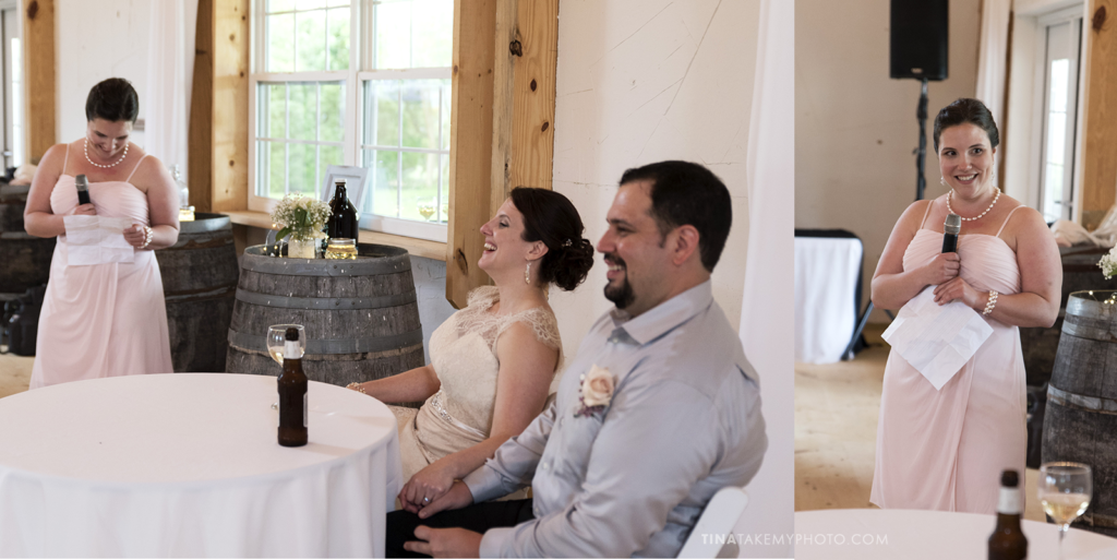 ridge-maryland-md-wedding-photographer-winery-slack-woodlawn-spring-romantic-rustic-waterfront-barn-wooden-reception-site-maid-of-honor-speech