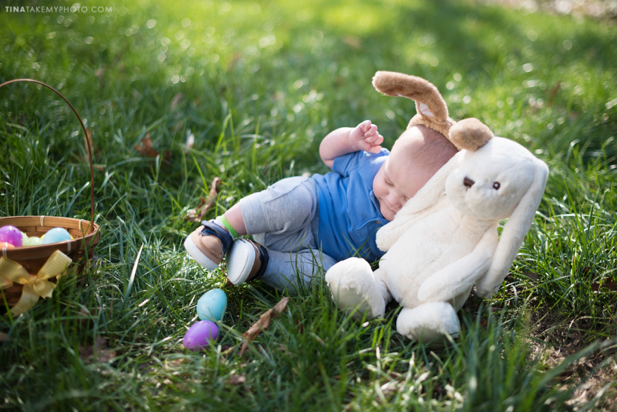Easter baby Chesterfield Virginia family photographer blooper