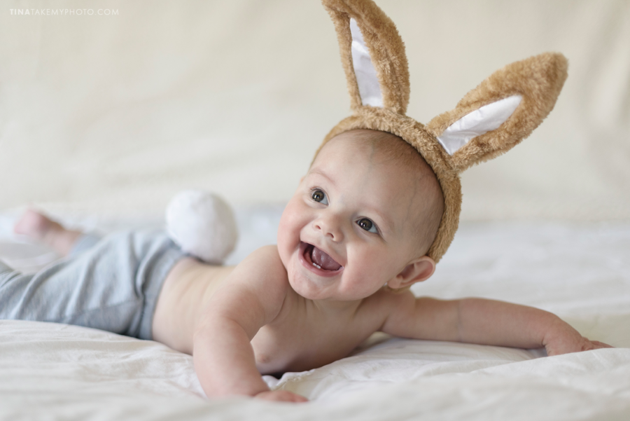 Easter baby mini session bunny Chesterfield Virginia family photographer