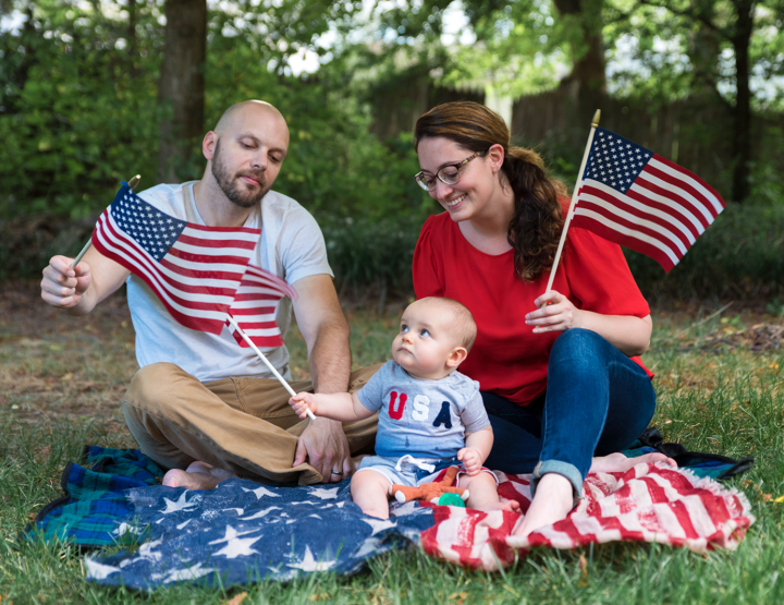 Baby's First 4th of July | Chesterfield Family Photographer