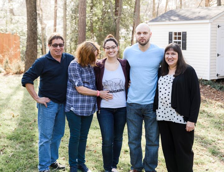 Surprise Pregnancy Announcement To Parents | Richmond VA Family Photographer