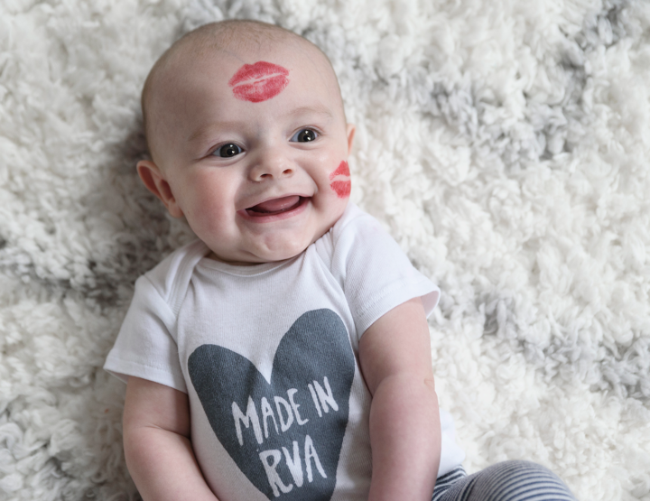 Valentine's Day Baby Kisses | Richmond, VA Family Photographer