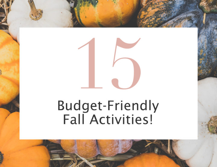 Budget-Friendly Fall Activities!