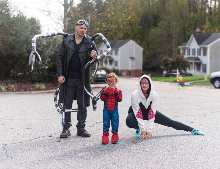 Spider-Man Halloween Family Costume DIY!